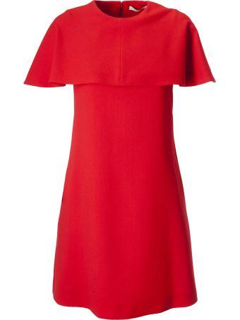 Givenchy Short Sleeves Cape Dress