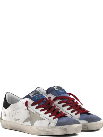 Golden Goose White & Multicolor Superstar Vintage Leather Sneaker