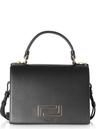 Lancel Pia Black Leather And Suede Top Handle Bag