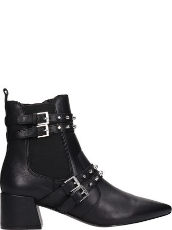 Kendall + Kylie Rad Black Leather Ankle Boots
