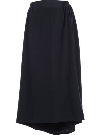 Y's Ribbed Waist Cropped Skirt