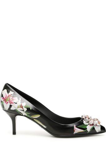 Dolce & Gabbana Lily Print Bellucci Pumps