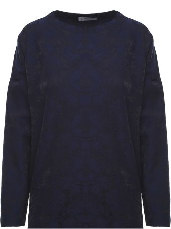 Alberto Biani Jaquard Wool-blend Top