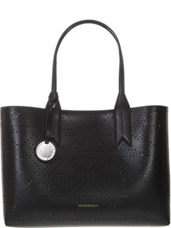 Emporio Armani Frida Black Faux Leather Bag