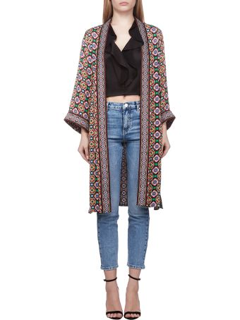 Alice + Olivia Graphic Print Cardi-coat