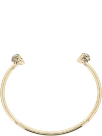 Alexander McQueen Thin Double Skull Bracelet