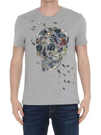 Alexander McQueen Beetle Cluster Skull T-shirt