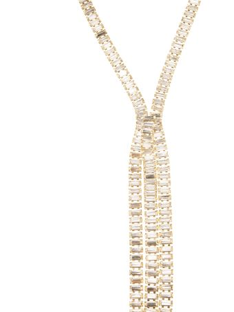 Rosantica Asymmetric Necklace With Crystals