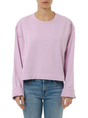 Acne Studios Pink Cotton Logo Sweatshirt