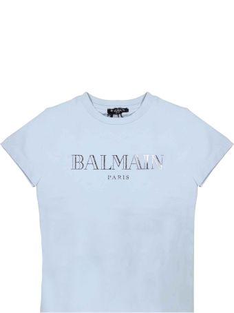 Balmain Light Blue Baby T-shirt