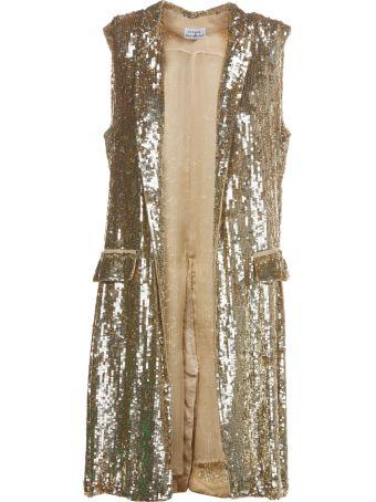 Parosh Sequin Embellished Draped Coat