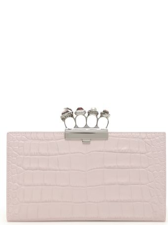 Alexander McQueen Jewelled Clutch With Four Rings