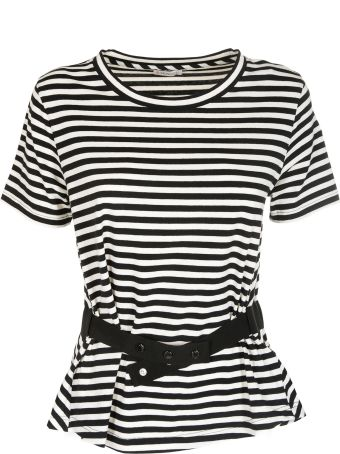 Moncler Belted Striped T-shirt