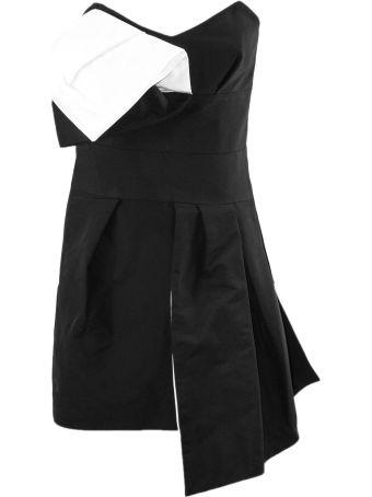 Alexandre Vauthier Black And White Asymmetric Dress
