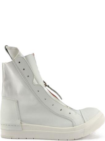 Cinzia Araia High-top Sneaker In White Leather