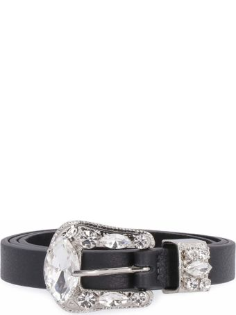 B-Low the Belt Riley Leather Belt With Embellished Buckle
