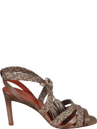 Santoni Braided Sandals