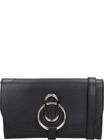 Stée Ivy Black Leather Pochette