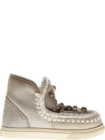 Mou Stone Mink Fur Studs Sneaker Boots