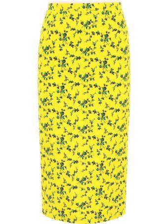 N.21 Floral-printed Pencil Skirt
