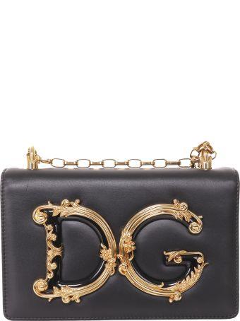 Dolce & Gabbana Black Dg Baroque Bag