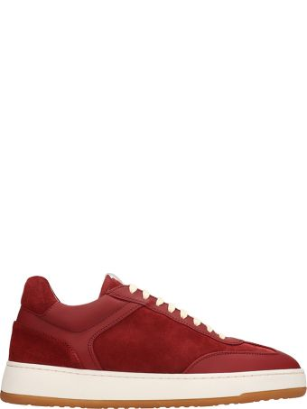 Etq Red Suede Sneakers Low 5