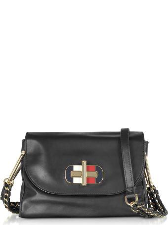Tommy Hilfiger Black Soft Turnlock Mini Crossbody Bag