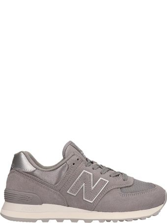 New Balance Suede And Canvas Grey 574 Sneakers