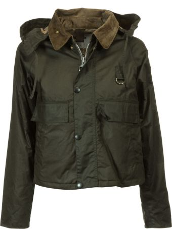 Barbour Cropped Leather Jacket