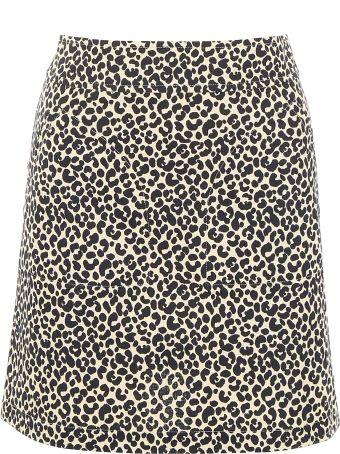 A.P.C. Leopard-printed Mini Skirt