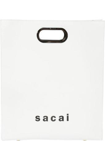 Sacai Logo Print Shopper Bag