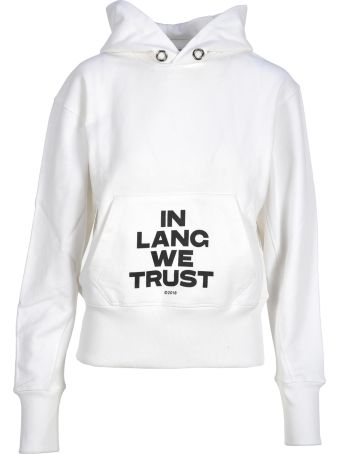Helmut Lang Hooded Fleece Lang We Trust
