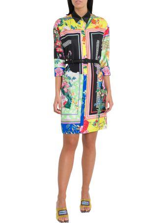 Versace Print Mix Shirt Dress