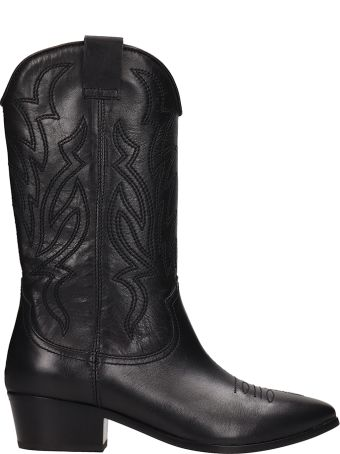 Janet & Janet Black Tex Leather Boots