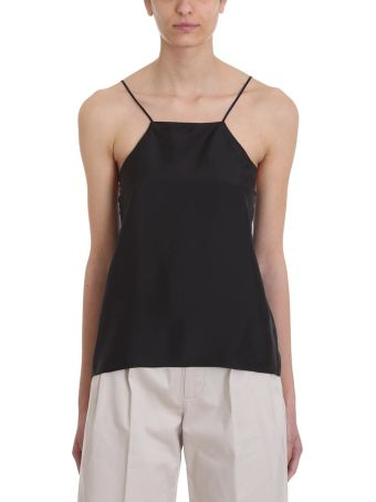 Mauro Grifoni Black Satin Top