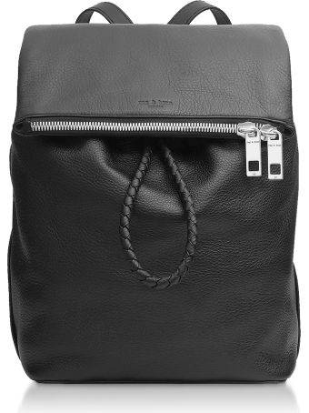 Rag & Bone Black Leather Loner Backpack