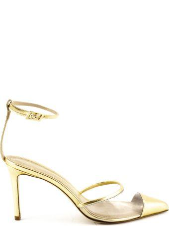 Aldo Castagna Platinum-tone Laminated High-heel Elise Pumps