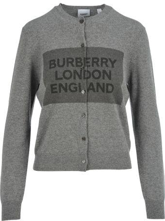 Burberry London Burberry Logo Print Cardigan