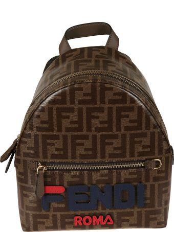 Fendi Mini Ff Print Backpack