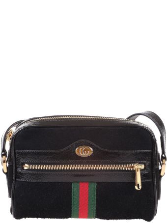 Gucci Black suede Ophidia mini bag