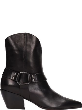 Dei Mille Texano Ankle Boot In Black Leather