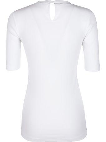 Brunello Cucinelli White Stretch Cotton T-shirt