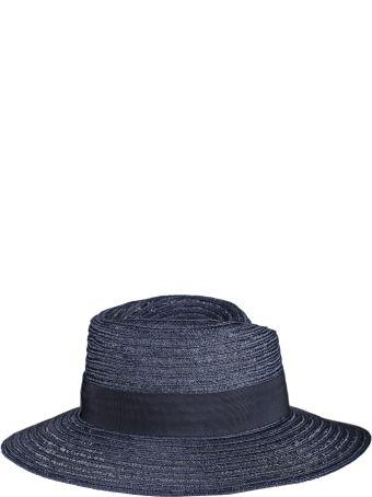 Maison Michel Maison Michel Logo Plaque Panama Hat