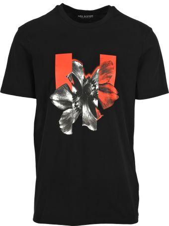 Neil Barrett Tshirt Macro Flower
