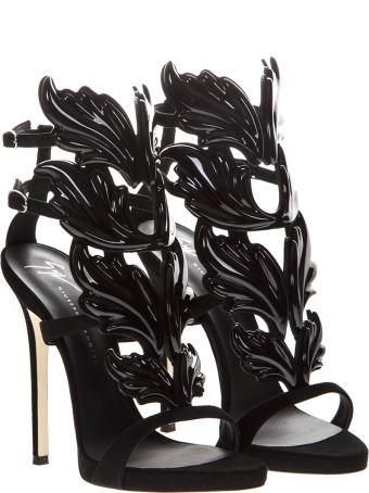 Giuseppe Zanotti Cruel Blak Patent Leather Sandals