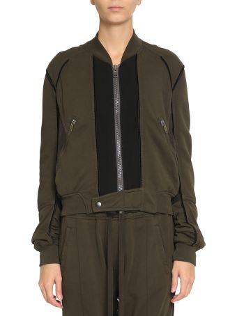 Haider Ackermann Panelled Jersey Cotton Bomber
