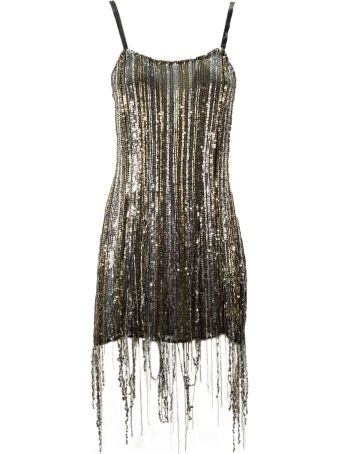 Amen Gold And Silver-tone Sequin Dress