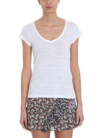 Isabel Marant Étoile Zankya T-shirt White Linen Cotton