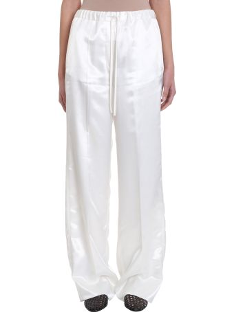 Jil Sander Gianmarco White Satin Trousers