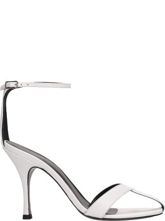 Sonia Rykiel White Leather Sandals